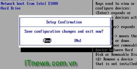 Lưu cấu hình BIOS