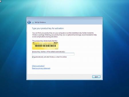 Điền key của Windows
